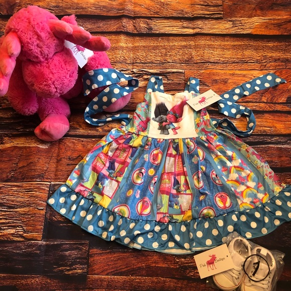 Trolls Girls Boutique Twirl Dress Poppy Branch